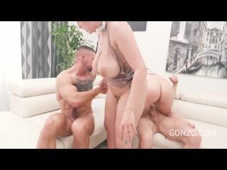 Curvy czech babes Angel Wicky Sofia Lee assfucked together at studio Gonzo SZ2438