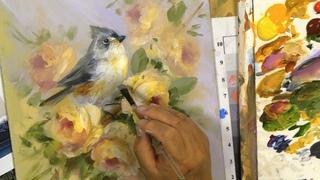 Painting Birds Challenge  Tuffed Titmouse