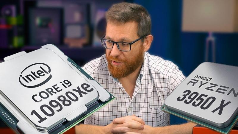 Тест i9 10980 XE и 3950X в интеллектуальном разгоне и без