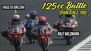 Motogp Battle, Overtake and Crash 125cc R4 Spain Jerez 1992