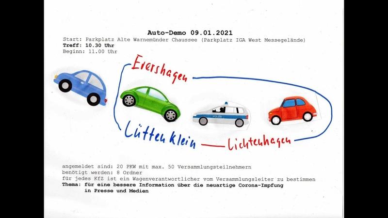Live Autodemo in Rostock Es geht durch Evershagen Lütten Klein Lichtenhagen