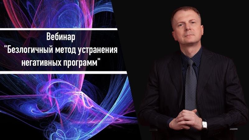 Вебинар Безлогичный метод устранения негативных программ Дмитрий Мельницкий