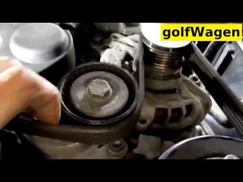 VW Golf 7 alternator belt replacement