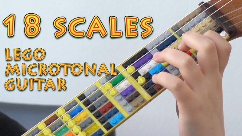 18 Scales on Lego Microtonal Guitar