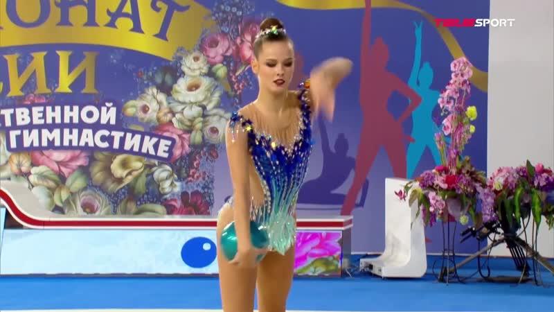 Екатерина Селезнева мяч личное многоборье Чемпионат России 2021 Москва
