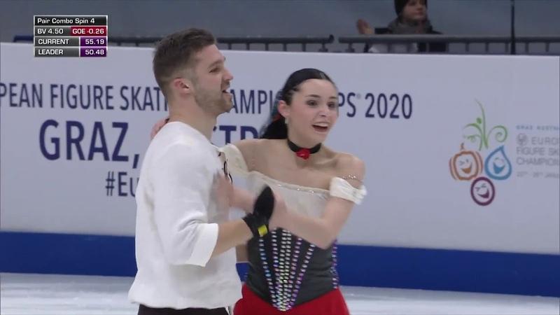 Cleo HAMON Denis STREKALYN FRA Free Skate 2020 European Championships