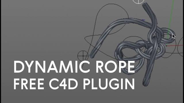 HoRope. C4d plugin. Dynamic rope from spline.