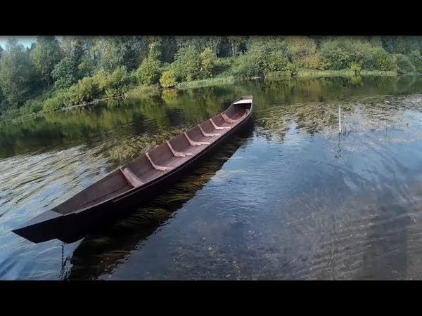 Спуск Коми лодки в одиночку. Descent Komi boat alone.