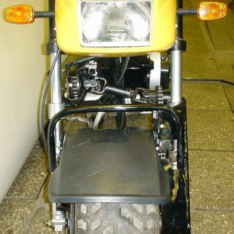 """ЗИД """"Тарзан"""" — мотоцикл с двумя ведущими колёсами, созданный для покорения Эльбруса, изображение №3"""