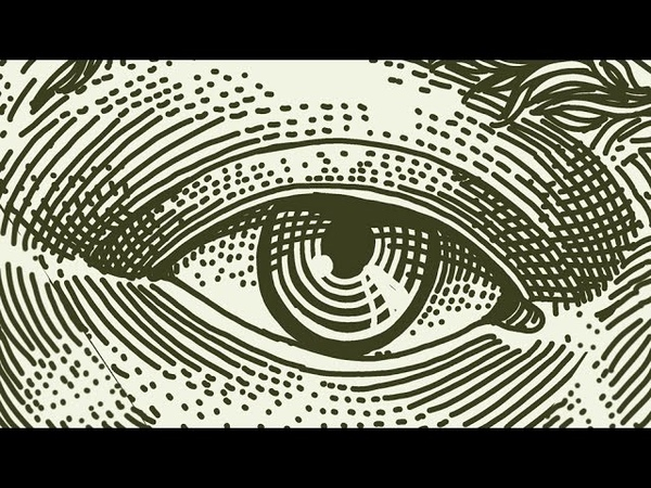 How to draw realistic EYE engraving style with cross hatching