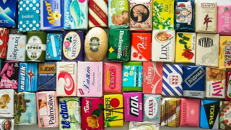 Unpacking very old vintage soap from around the world ASMR Rare collection of soaps
