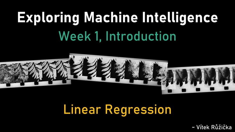 CCI Class Exploring Machine Intelligence Week 1 Coding: Linear Regression