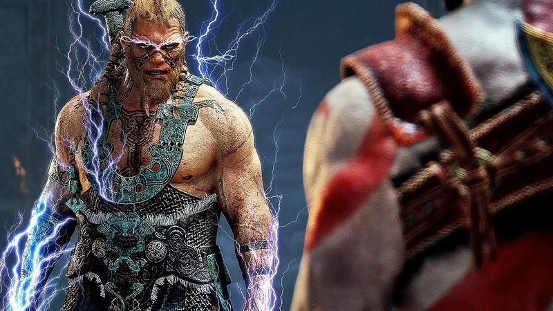 God of War 4 Magni Modi Thor All Cutscenes Boss Battle 4K Gameplay PS4 Pro