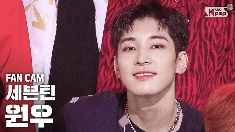 안방1열 직캠4K 세븐틴 원우 Left Right SEVENTEEN Wonwoo FanCam │@SBS Inkigayo 2020.7.5