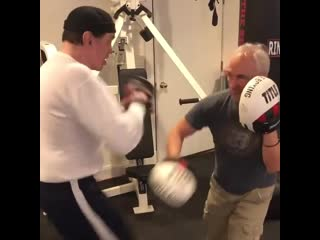 My trainer is the best. Rudy's Boxing & MMA gym in MT. Kisco NY - working out at my home Gym