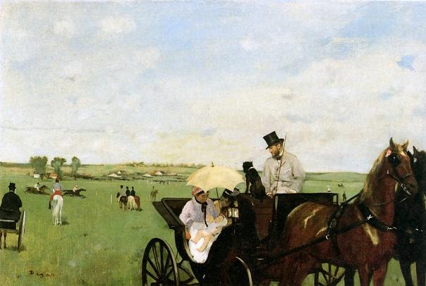 На скачках в сельской местности, Эдгар Дега