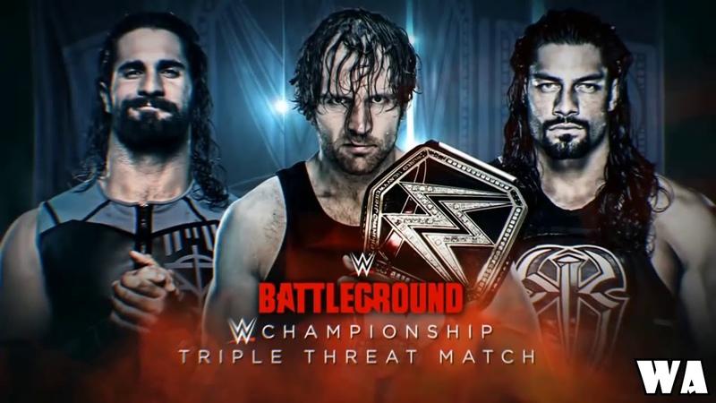 Dean Ambrose vs Seth Rollins vs Roman Reigns Battleground 2016 Highlights