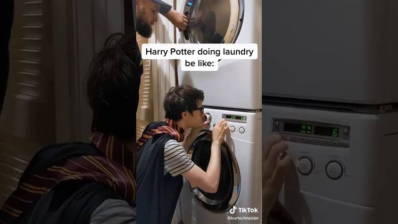 Harry Potter Doing Laundry be like. subscribe