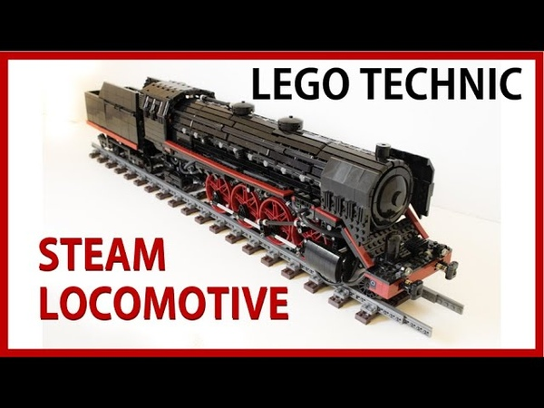 Lego Steam Locomotive working with compressed air