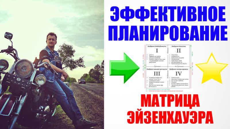 Как я планирую день ЭФФЕКТИВНО Планирование дня по Матрице Эйзенхауэра Александр Полевой