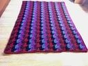 3D коврик оборотными рядами крючком 3D rug in crochet rows