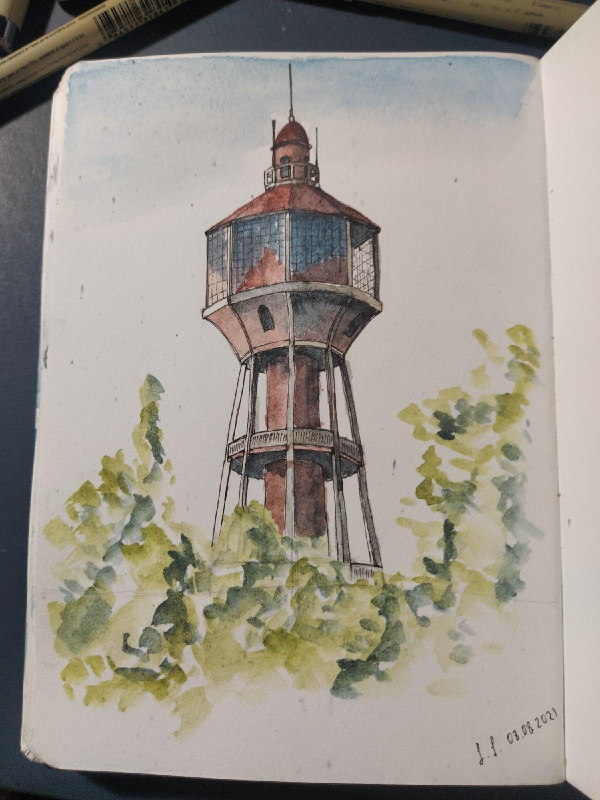Скетч башенки (водонапорной - Фото