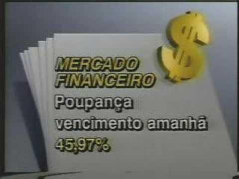 Jornal do SBT de maio 1994 Hiperinflação Plano Real 20 Anos