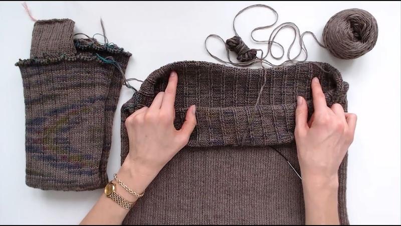 Вязание спицами по кругу СНИЗУ Секреты моделирования бесшовного плечевого изделия