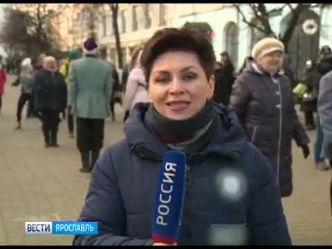 Репортаж Кадрильный флешмоб в день рождения Золотого кольца России