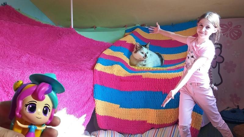 Опять построила ДОМ и с кошками открываю СЮРПРИЗЫ Лиза и питомцы