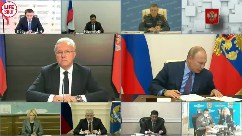Путин жёстко отреагировал на доклад губернатора Красноярского края Усса
