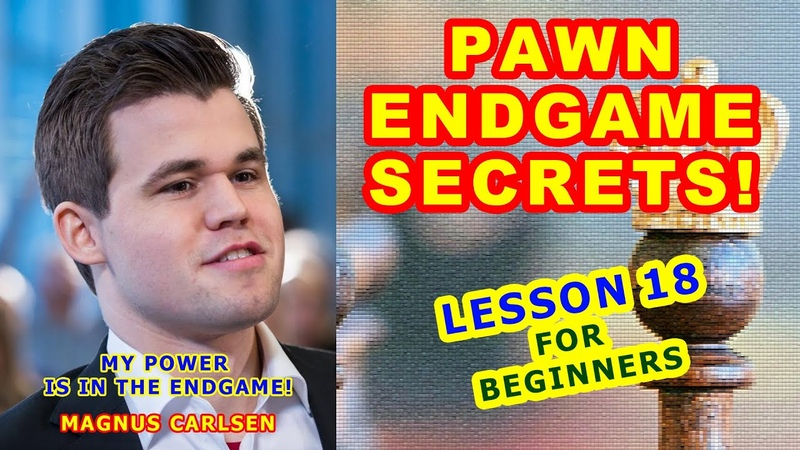 PAWN ENDGAME SECRETS ♙♔ CHESS LESSONS ♕ TRAINING for beginners tutorial online 18th VIDEO free