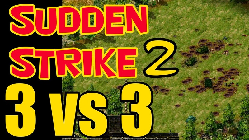 Sudden Strike⭐mod RWG ToW⭐3 vs 3 multiplayer - Two fortresses