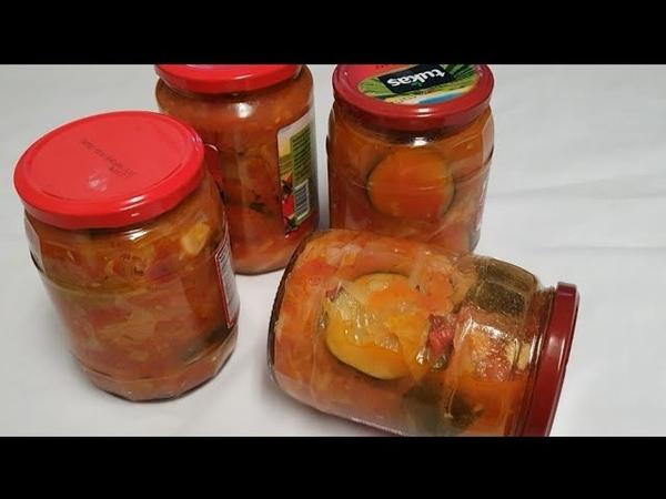 Qishga eng mazali oson Salat☆ Заготовка самый Вкусный Салат на Зиму