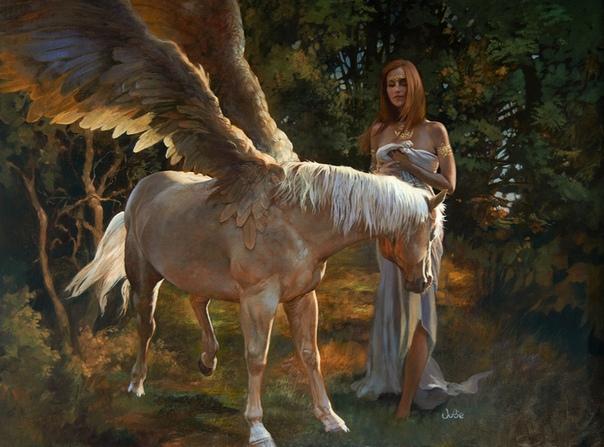 Джули Белл Американская художница рисует грациозный мир фантастических людей животных, в котором очень хочется