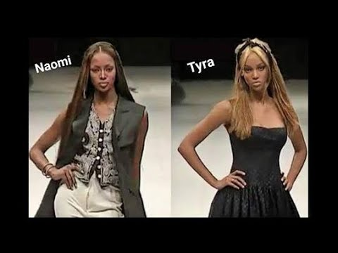 Naomi Campbell Tyra Banks Runway Walk