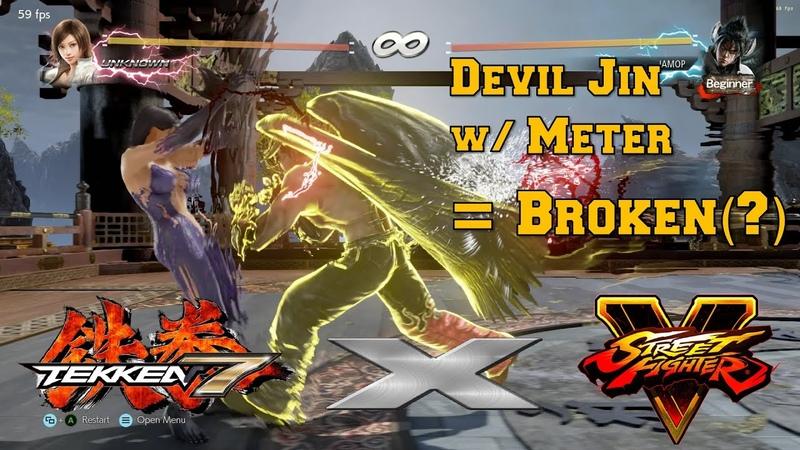 EX Devil Jin Tekken X Street Fighter Concept Mod w V Trigger