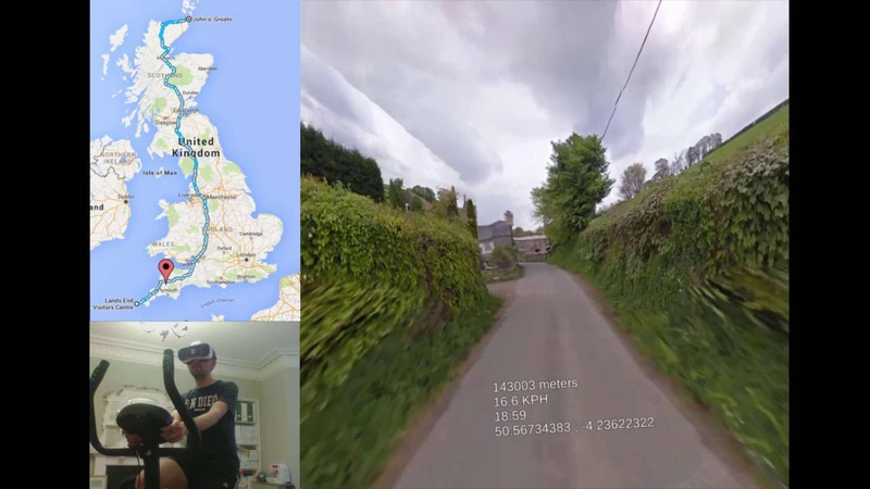 Cycling Britain in VR. 100-200km summary