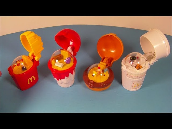 1996 FLIP UP'S SET OF 4 McDONALD'S HAPPY MEAL KID'S TOY'S VIDEO REVIEW
