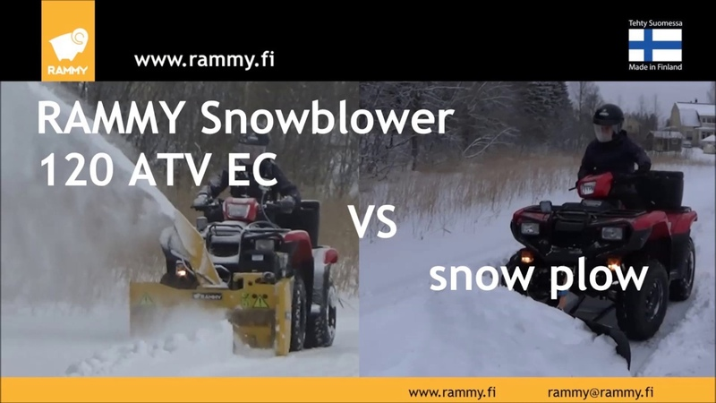What is the difference between the Rammy snowblower 120 ATV EC and a ATV snow plow