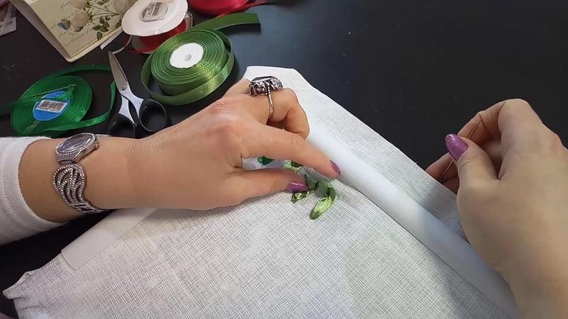 Первые шаги в вышивке лентами First steps in embroiding with ribbon