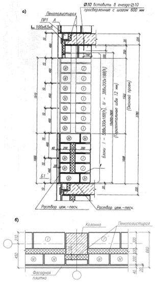 Наружные стены и другие конструктивные элементы жилых зданий с несущим остовом в виде каркасно-этажерочных систем