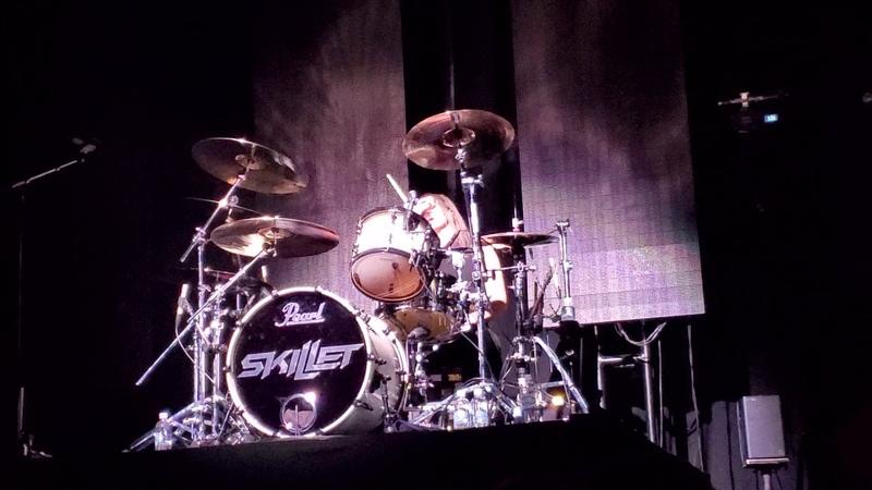 Jen Ledger [Skillet] drum solo Atlanta Georgia March 1st 2020
