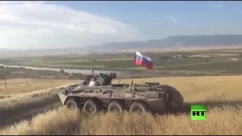 29 мая 2020 российский патруль впервые добрался до сирийско иракской границы в северо восточной Сирии