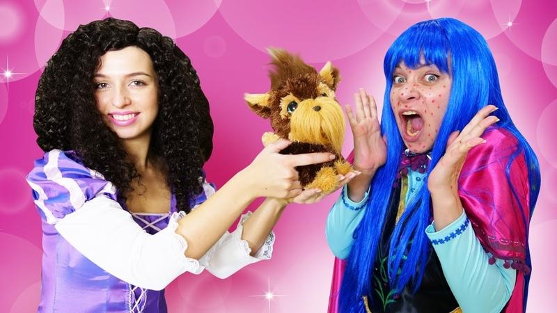 Un perro de juguete en el Castillo mágico Princesas caprichosas Vídeos para niñas