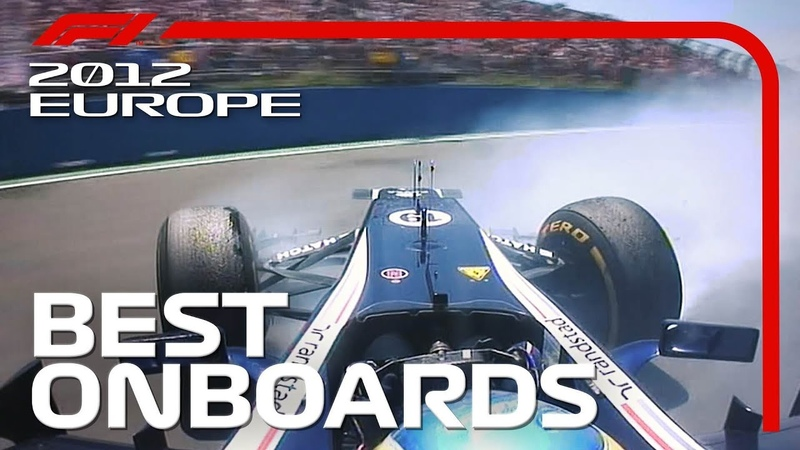 Amazing Overtakes Dramatic Collisions Emirates Best Onboards 2012 European Grand Prix