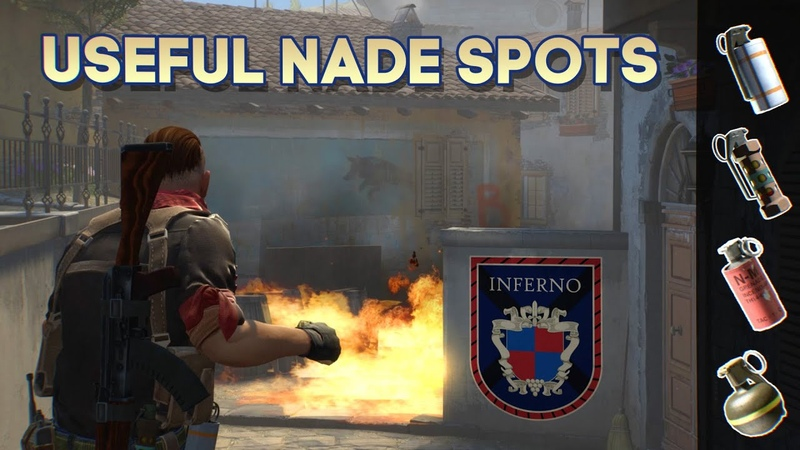Top 100 Nade Spots on INFERNO