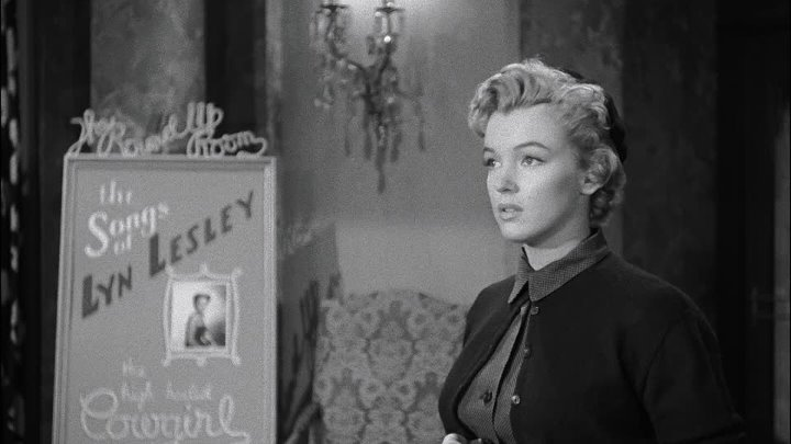 Можешь не стучать 1952 фильм нуар триллер драма детектив США Рой Уорд Бейкер Ричард Уидмарк Мэрилин Монро Энн Бэнкрофт Донна Коркоран