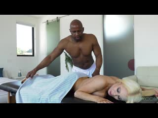 KinkySpa E96 - Busty Nikki Delano gets massaged and fucked deep by her new BBC employee Kinky Spa Massage Oiled MILF