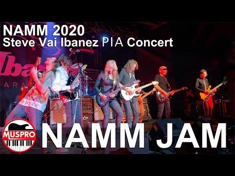 NAMM 2020 Steve Vai Joe Satriani Nita Strauss Paul Gilbert Polyphia - Ibanez PIA Concert Guitar Jam